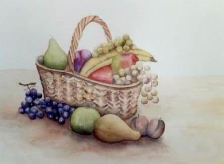 Panier de fruits (2003) dans Aquarelles 54811802