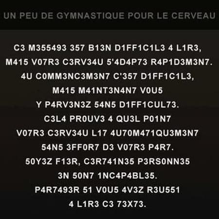 Un peu de gymnastique pour cerveau 62659007