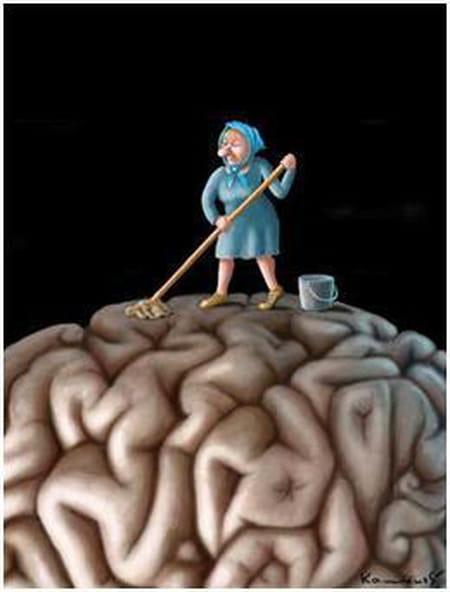 """Le """"lavage de cerveau """" prenez-le avec humour et même aux sens propres et figurés ...?"""