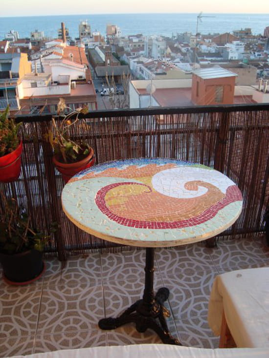 Qui a d j fait une table en mosa que r solu for Table en mosaique pas cher