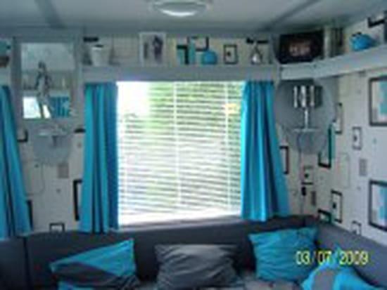Comment d corer un mobile home r solu for Salon turquoise et gris