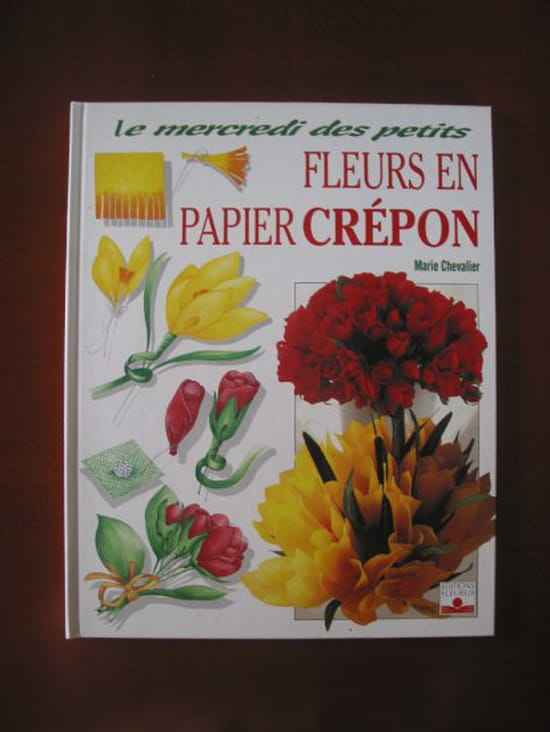 Cherche id es pour faire des fleurs en papier cr pon r solu loisirs cr atifs diy - Fabriquer des fleurs en papier crepon ...