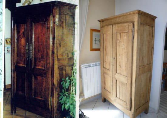 Pin d caper un meuble en bois on pinterest for Decaper un meuble en bois