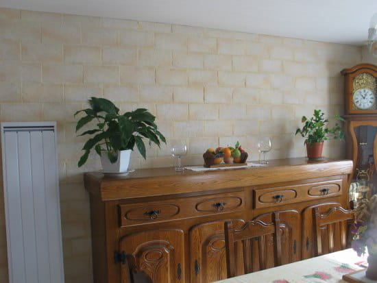 Mur en parement pierre r solu - Plaque parement interieur ...