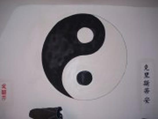Chambre Pour Garcon Vert :  peint avec des motifs de yin et de yang ?  Idées déco, aménagement