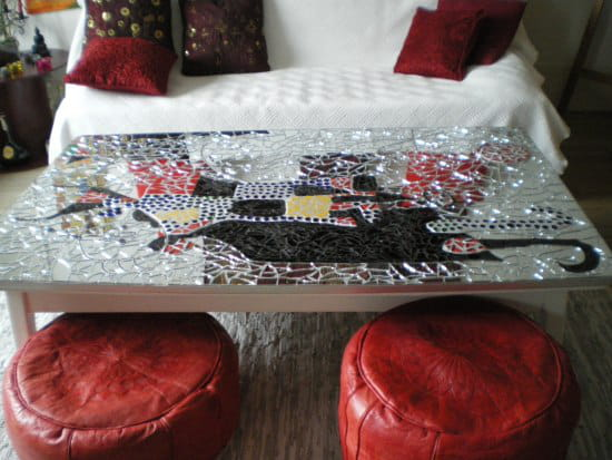 Comment faire une table basse en mosaique - Faire une table industrielle ...
