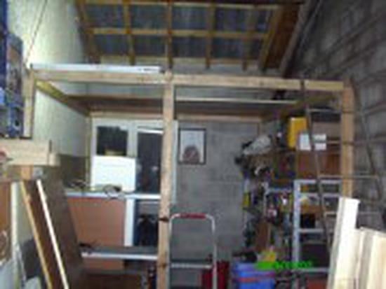 Construire une mezzanine dans un garage - Construire une mezzanine suspendue ...