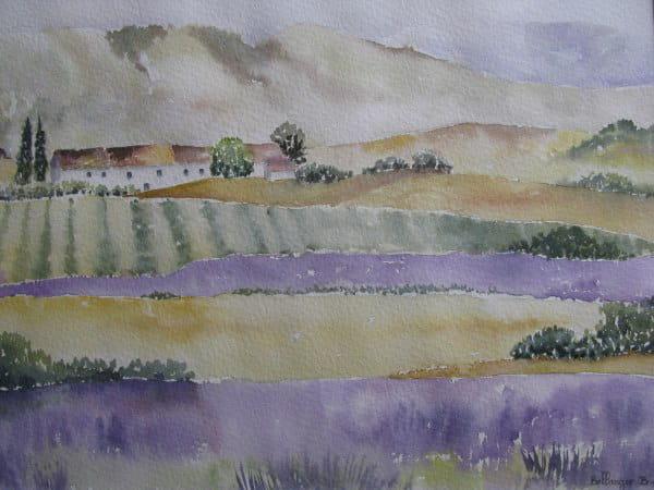 Paysage de provence (2003) dans Aquarelles 54916540