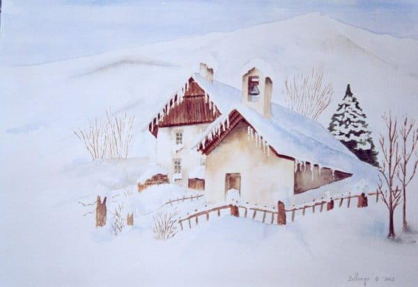 Paysage de neige (2005) dans Aquarelles 54811807