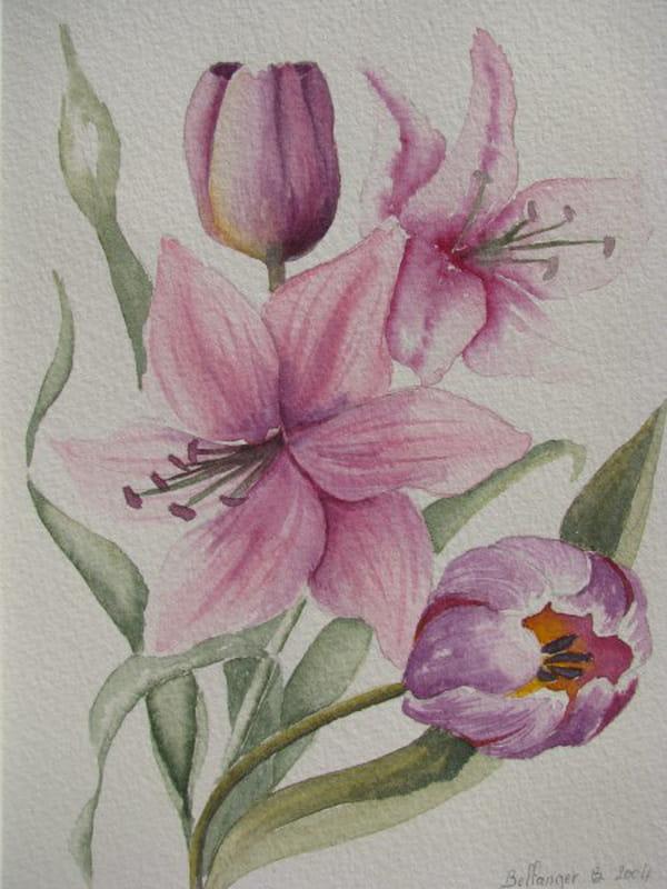 Bouquet de fleurs (2004) dans Aquarelles 54824566
